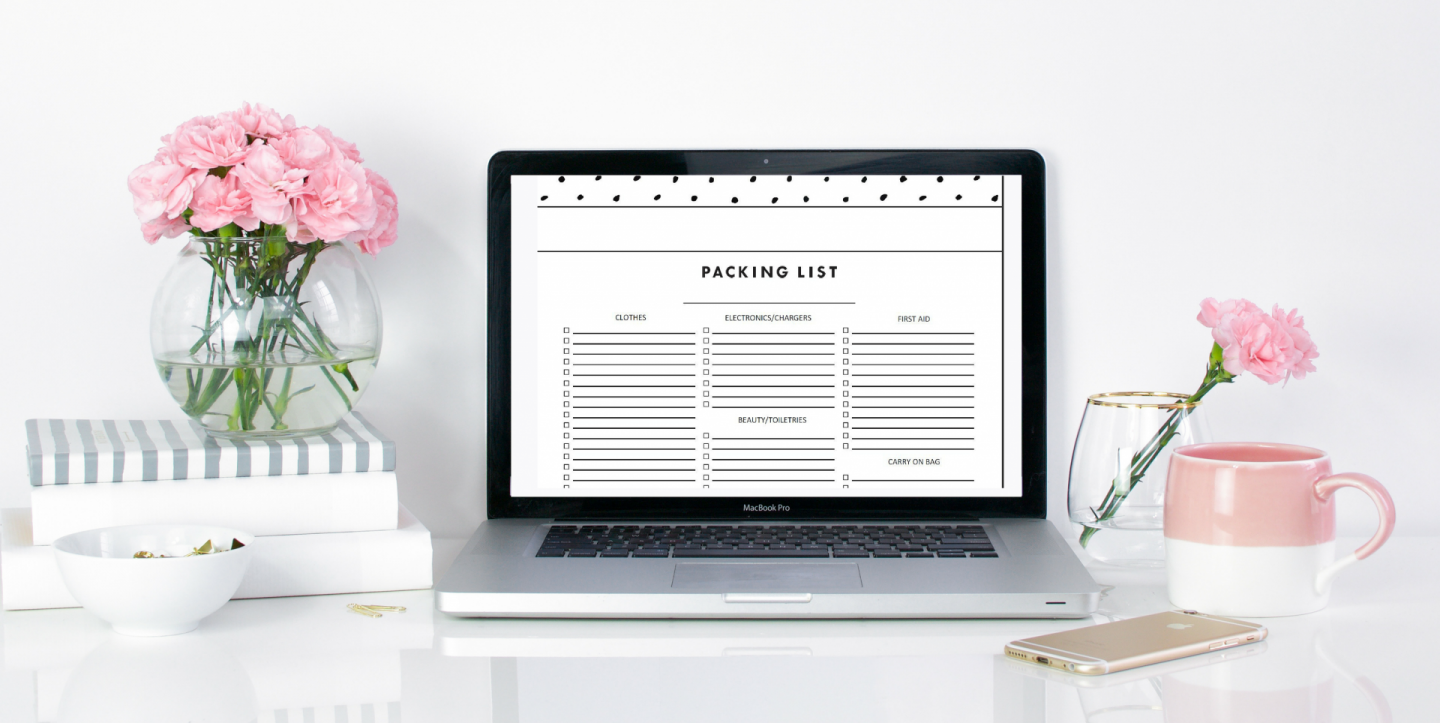 Free Downloadable packing list