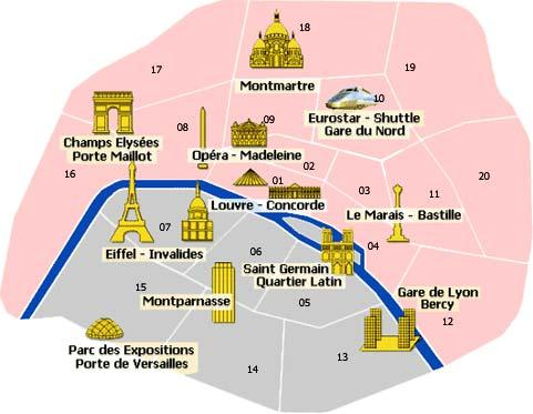 Where To Stay In Paris The Best Hotels - Paris map monuments