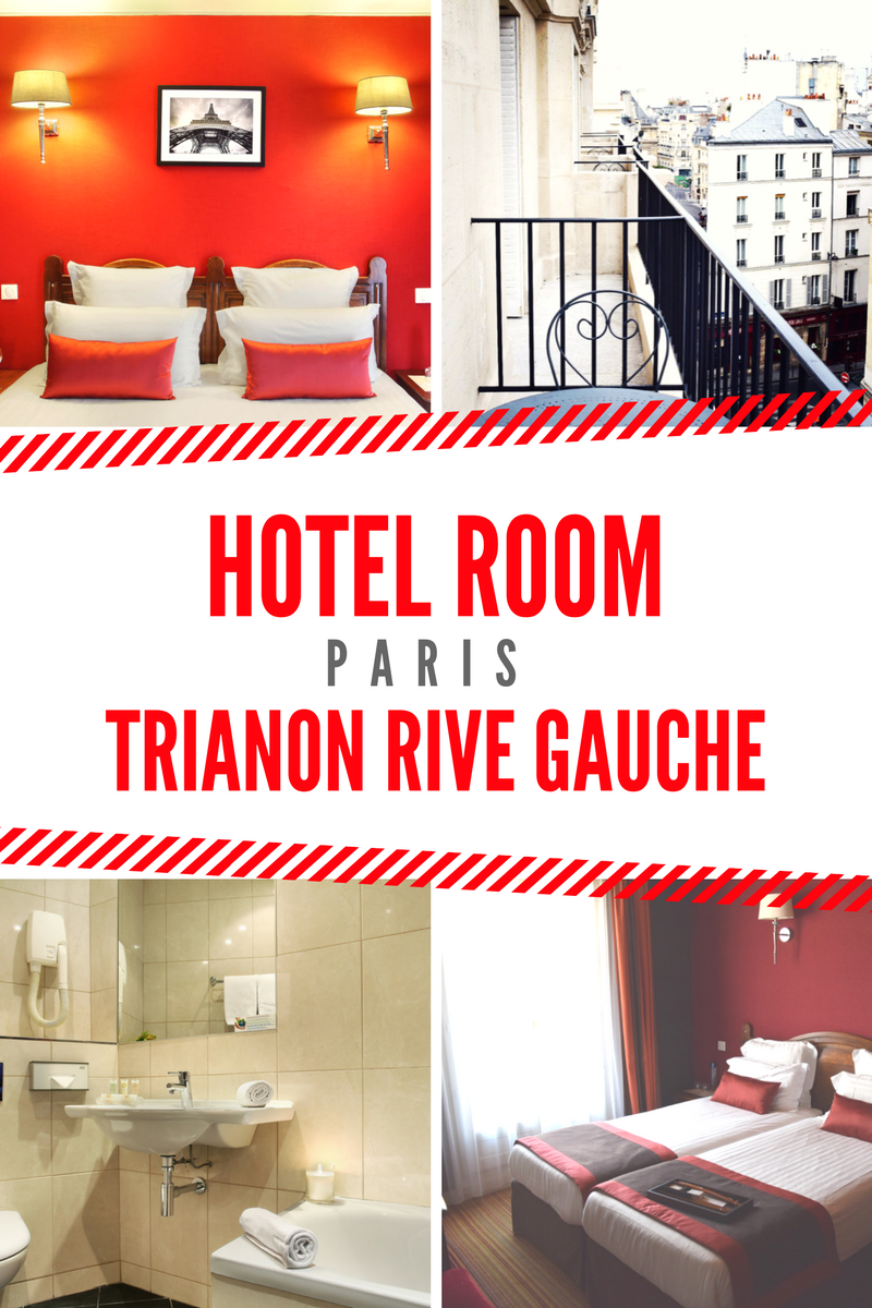 Trianon Rive Gauche Hotel Room, Balcony and Bathroom