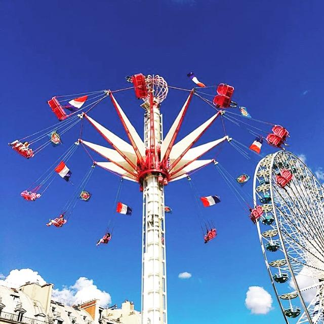 Fairground in the Tuileries Gardens