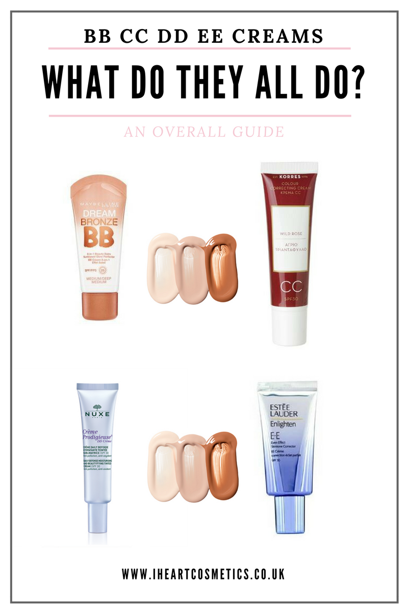 BB CC DD EE Creams - What Do They All Do?