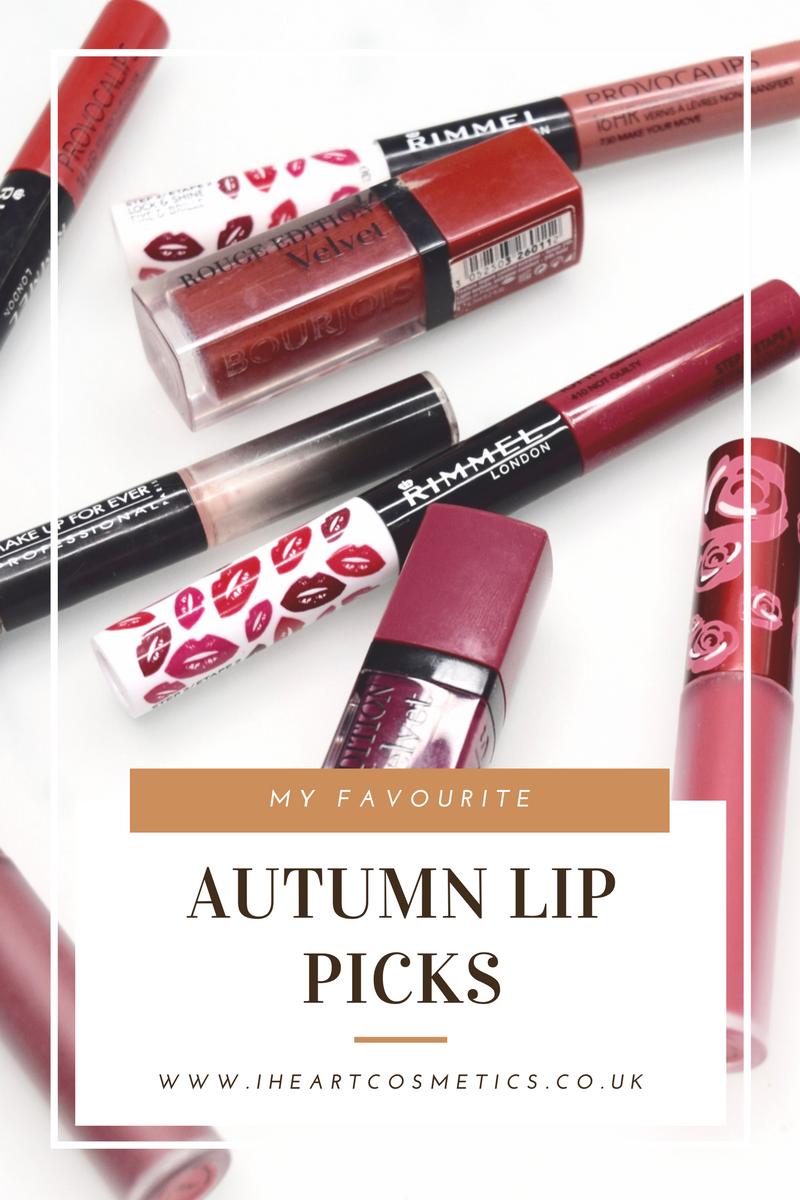 My Favourite Autumn Lip Picks