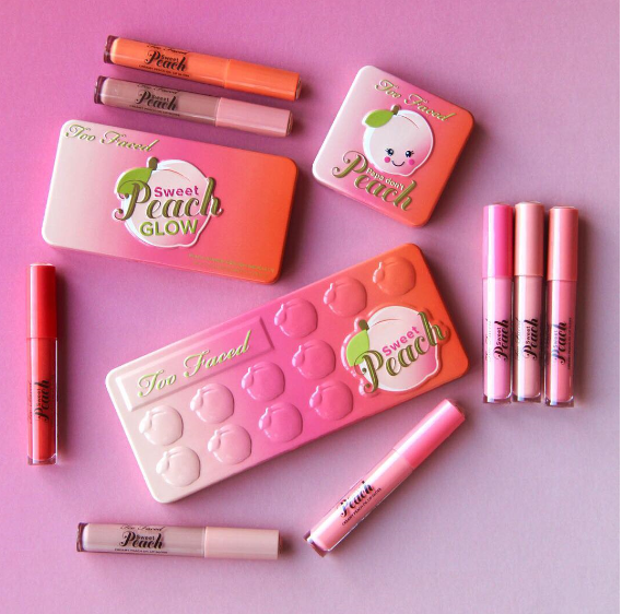 NEW Too Faced Sweet Peach Scented Makeup Collection