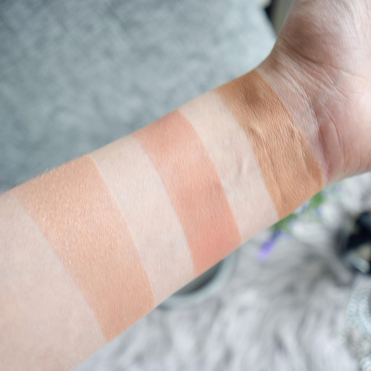 Too Faced Sweet Peach Glow Palette Swatches