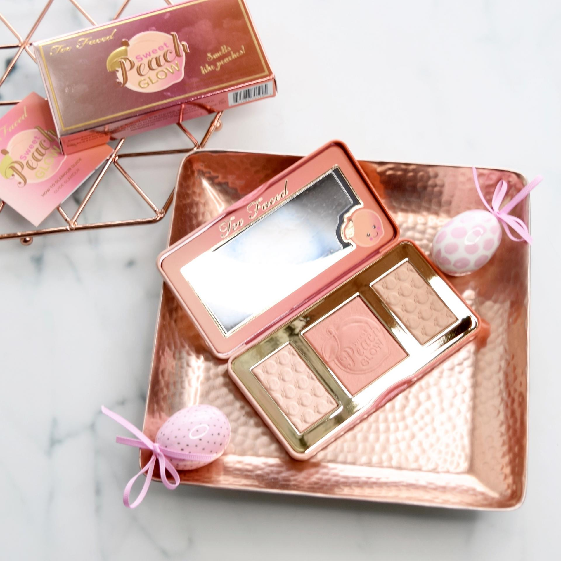 too faced sweet peach glow palette review and swatches i heart cosmetics. Black Bedroom Furniture Sets. Home Design Ideas