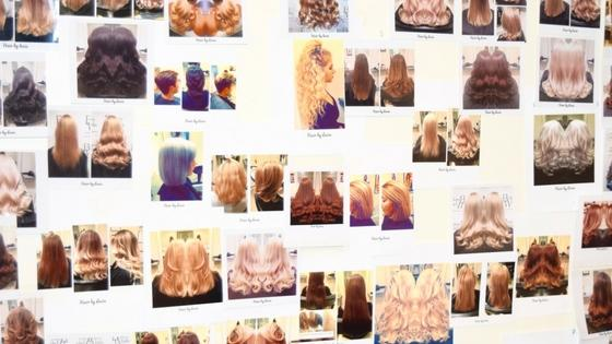 Lucia's client photo wall