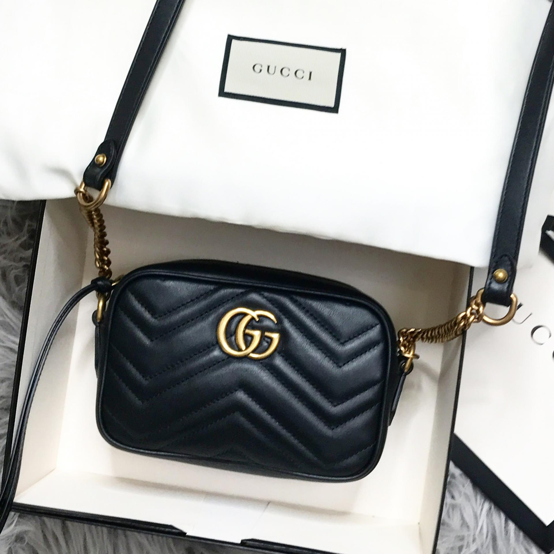 9144b1a1e89 Gucci Marmont Matelassé Mini Bag Review - I Heart Cosmetics