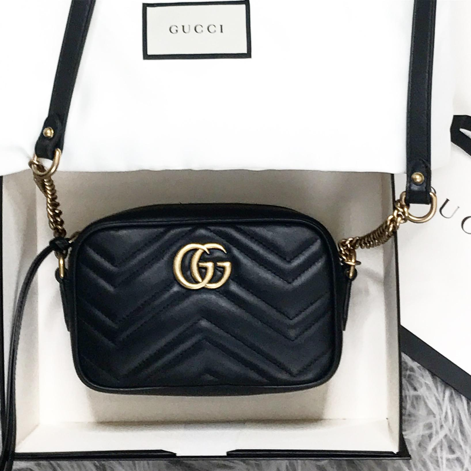 c706a94abd2 Gucci Marmont Matelassé Mini Bag Review - I Heart Cosmetics